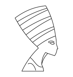 Nefertiti icon outline style vector