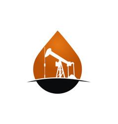 Oil mining vector