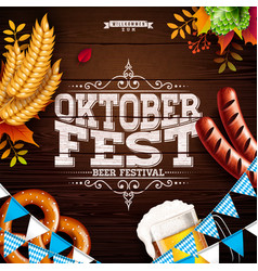 oktoberfest banner with typography vector image