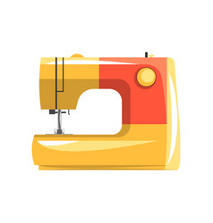 orange modern electronic sewing machine vector image