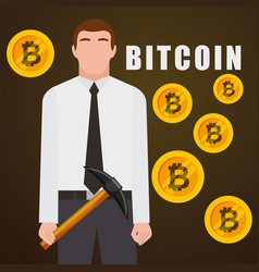 People business bitcoin vector