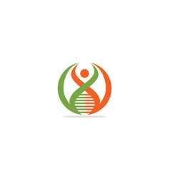 people dna logo vector image