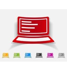 realistic design element laptop vector image