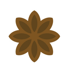 Star anise icon christmas food and drink vector