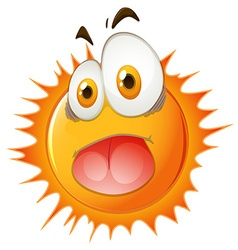 Sun with shocking face vector