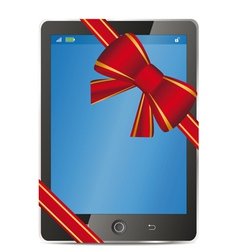 tablet pc gift vector image