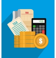 Taxes payment day vector