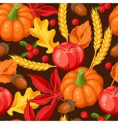 Thanksgiving Day or autumn seamless pattern vector