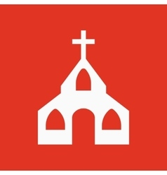 The church icon Christian and god catholic vector