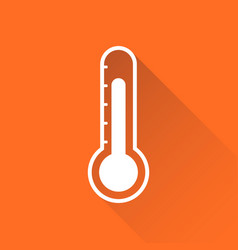 Thermometer icon goal flat isolated on orange vector