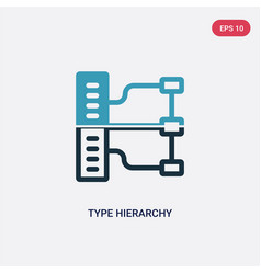 Two color type hierarchy icon from technology vector