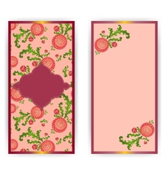Vertical greeting card with flowers vector