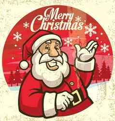 vintage style of santa claus vector image