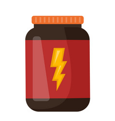 Whey protein in a jar cartoon vector