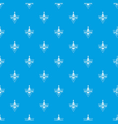 white wine pattern seamless blue vector image