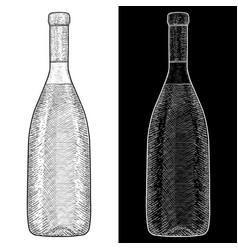 wine bottle hand drawn sketch vector image