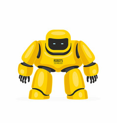Yellow robot vector