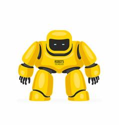 Yellow robot vector