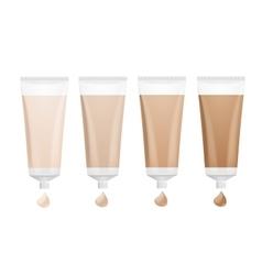 Foundation Cream Palette vector image