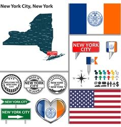 New York City New York set vector image