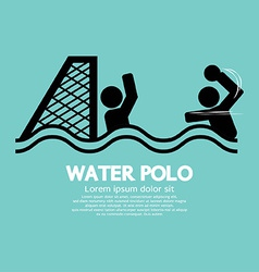 Water Polo Sport Sign vector image vector image