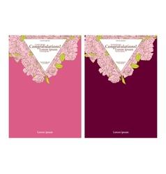 Wedding invitation cards vector image