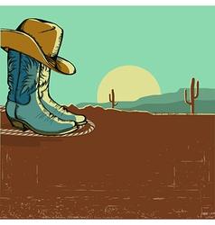 western image with desert landscape vector image vector image
