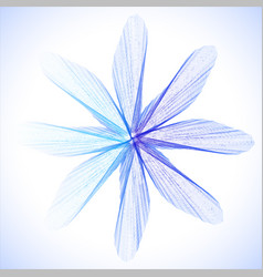 blue abstract flower vector image vector image