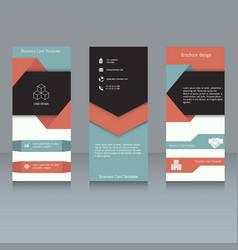 brochure design template brochure design template vector image vector image