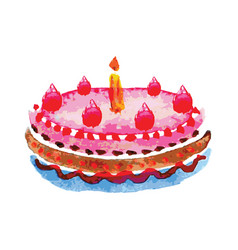 cake on white background vector image vector image
