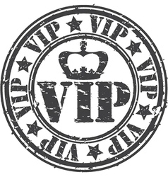 Grunge vip rubber stamp vector image vector image
