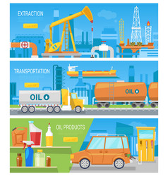 oil industry oiled technology petroleum vector image