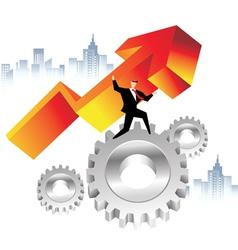 business economics vector image