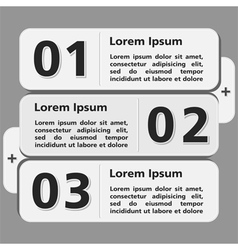 Design Template with Three Elements vector image vector image