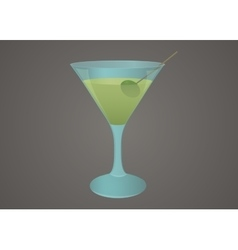 Martini glass with olive vector image vector image
