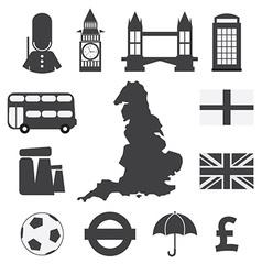 Set of England Symbol Icons vector image