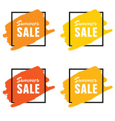 summer sale icon set vector image vector image