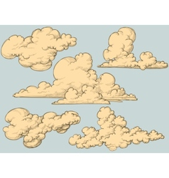 vintage clouds vector image vector image