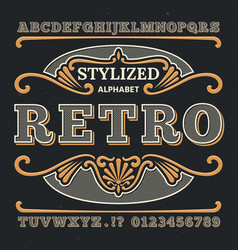 vintage western 3d typography gothic retro vector image vector image