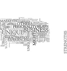 what make us unique and different text word cloud vector image vector image