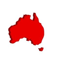 Australian continent Bulk vector image vector image