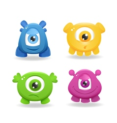 Cartoon cute monsters on white background vector image vector image