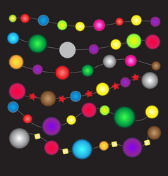 colorful lights for decoration vector image