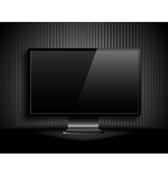lcd monitor vector image vector image