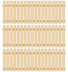 Set of Three Wooden Fences vector image vector image