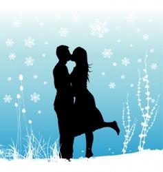 winter love vector image vector image