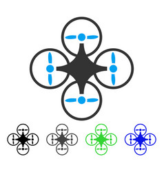 Air copter flat icon vector