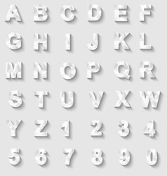 alphabet new style modern white vector image