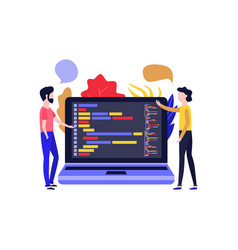application development - men vector image