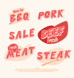 banners and headers for sale of meat products vector image